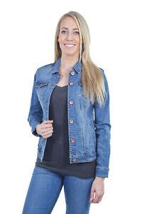 Women-039-s-Juniors-Premium-Stretch-Denim-Long-Sleeve-Jacket