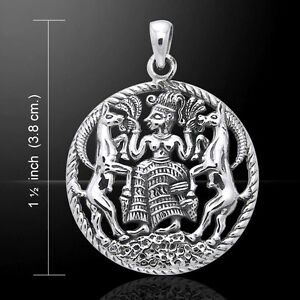 Oberon Zell Astarte .925 Sterling Silver Pendant by Peter Stone