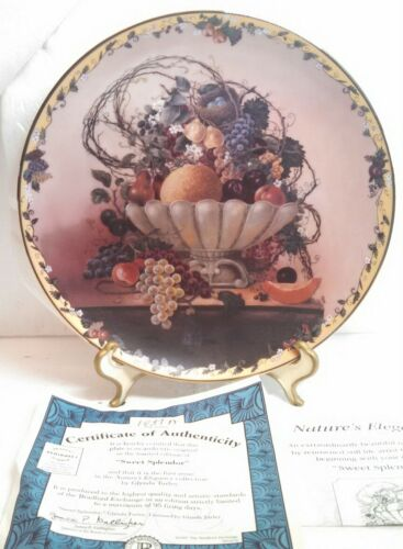 """Sweet Splendor"" Collector Porcelain Plate by Glynda Turley Nature's Elegance"