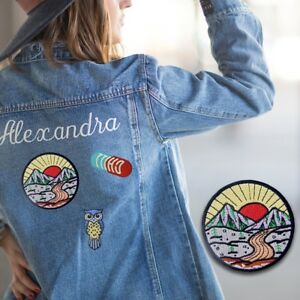 Details about Embroidered Iron On Sew On patches transfers Badges Appliques  Emblems Sunrise