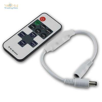12-24V Dimmer//Schalter mit Fernbedienung Mini LED Funk-Controller max 72W NEU