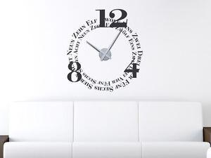 Wandtattoo Uhr moderne Wanduhr Buchstaben und Zahlen für Ihr ...