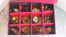 The Danbury Mint Gold Christmas Ornament Collection Noahs Ark Angel Deer 2011