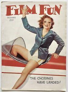 December 1938 Film Fun Magazine Leggy Spirited Aviatrix Cover Albert Fisher Fine