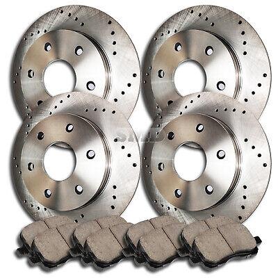 FITS 2011 2012 2013 2014 TOYOTA SIENNA Drilled Brake Rotors CERAMIC SLV