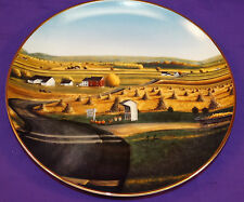 92 LANCASTER COUNTY HARVEST DECORATIVE PLATE BY GEORGE LYSTER DANBURY MINT A580