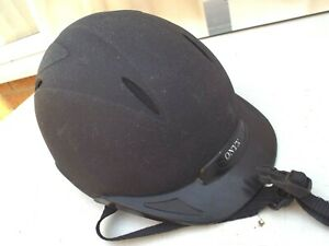 ONYX-CHILDS-RIDING-HAT-WELL-PADDED-PLASTIC-PEAK-BS1384-PAS-015-SIZE-55-CM-CLEAN