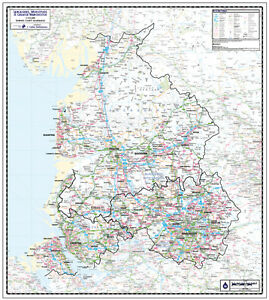 Lancashire county wall map laminated edition map scale 1125000 image is loading lancashire county wall map laminated edition map scale gumiabroncs Gallery