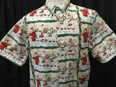 Christmas Hawaiian Shirt Australia.Reyn Spooner Hawaiian Christmas Shirt 1999 Guy Buffet Santa Chefs Holiday Large Ebay