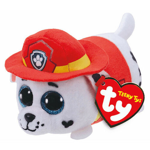 """Ty Beanie Boos 4/"""" Teeny Tys Paw Patrol MARSHALL w// Heart Tags MWMT/'s Stackable"""
