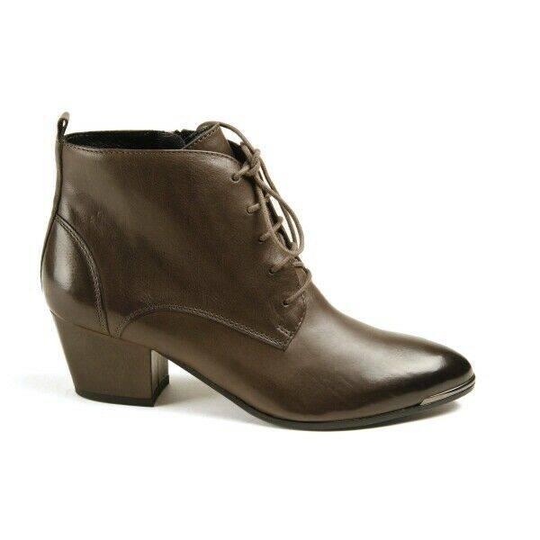 Womens Ankle Boot k&s Fashionable mud color Leather NEW size 37