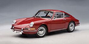 1-18-AUTOart-1964-Porsche-911-Rouge-CULTE-RARE