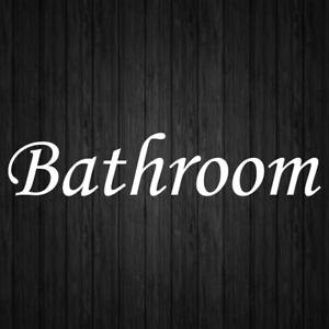 Bathroom Restroom Toilet Decal Vinyl Sticker Door Wall Window Sign Decals
