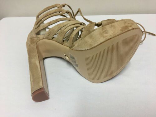 Windsor Smith Platform Camel Sand Suede Leather Meteor Block Heeled Size 5//38