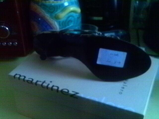 MARTINEZ VALERO LEOPARD SUEDE BLING BLING BLING T STRAP SANDALS schwarz HEEL 7 M 9c270d