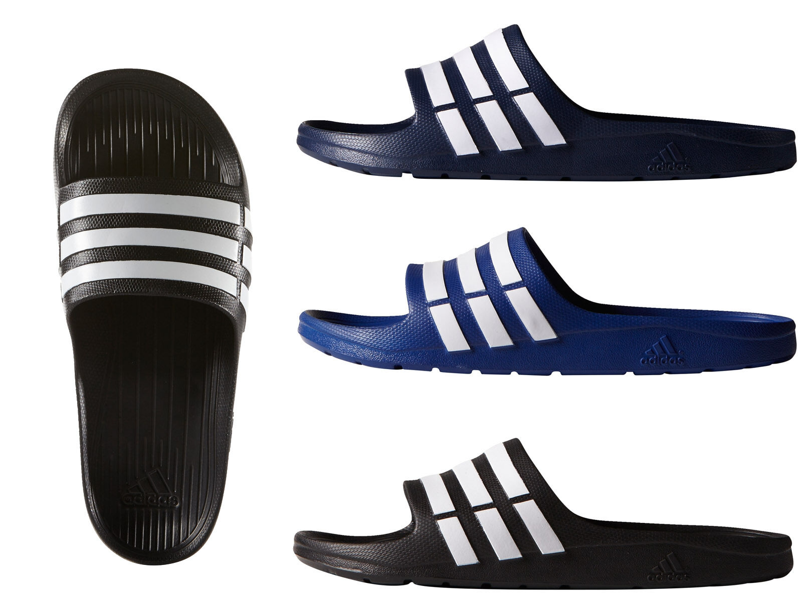 Adidas Duramo Mens Slide Flip-Flops Sandals Pool-Beach Shoes Trainers Slippers New shoes for men and women, limited time discount