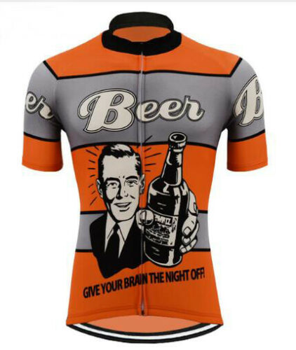 Brand New Retro BEER Cycling Jersey