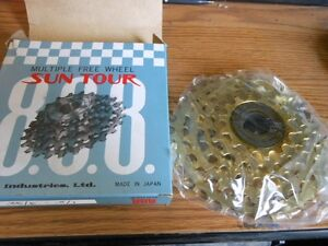 NOS-New-Old-Stock-Suntour-888-Gold-Pro-Compe-FreeWheel-1-2-by-3-32-5-Speed-14-34