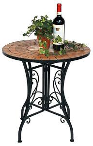 Tisch Mosaik 12001 Gartentisch 60cm Metall Beistelltisch Garten