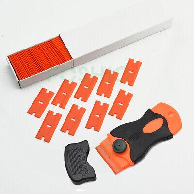 Kunststoff Universal Schaber mit 100 Klingen Dichtungsschaber Plakettenentferner