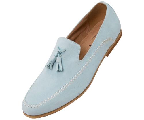 Montel Amali Microfiber Faux Suede Men/'s Slip on Dress Shoe with Tassels