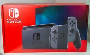 Nintendo Switch V2 Console With Gray Joy Con Brand New Grey Free Shipping Ebay