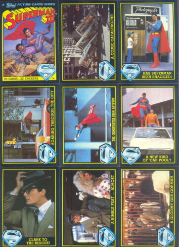 TOPPS SUPERMAN 3 TRADING CARDS WITH STICKERS 1983 COMPLETE SET