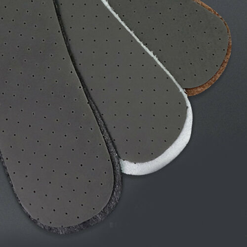 Full Length Cowhide Leather Insole Shoe Inserts Absorb Sweat Deodorant Unisex