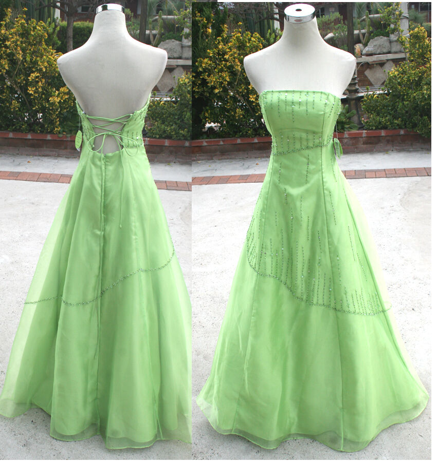 NWT WINDSOR  150 LIME Juniors Pageant Formal Gown 5