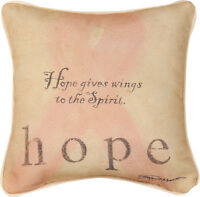Believe In Miracles ... Hope Breast Cancer Awareness Tapestry Toss Pillow
