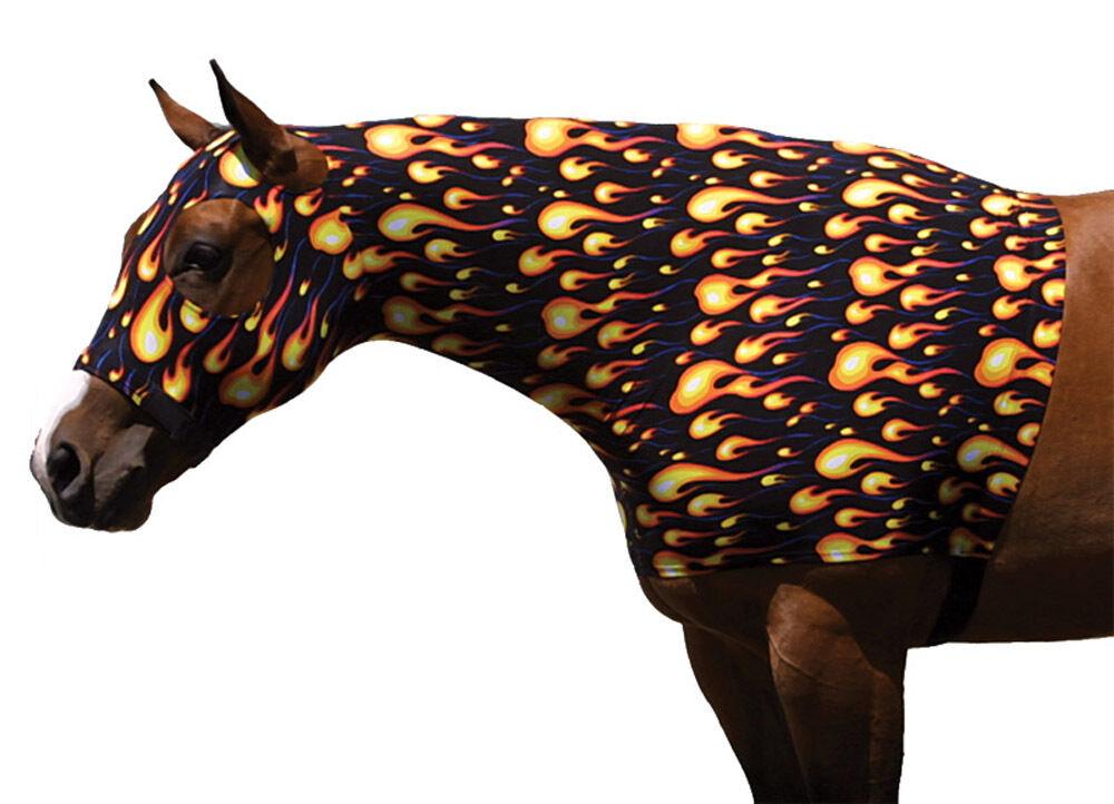 Sleazy Sleepwear for Horses Flame Sheet & Hood w Zipper Set Größe XXSmall