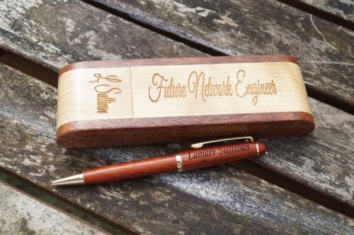 personalised wooden folding pen case pen case wooden pen case christmas gift
