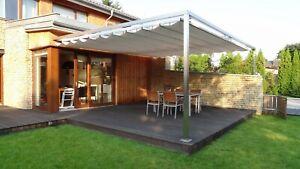 Details zu Terrassendach Decor 350x300 cm weiß, anthrazit Sonnenschutz  Faltdach Pergola