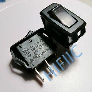 1PCS/5PCS SCI R13-205 Rocker Switch 3 Pins 2 Position With Lamp 10A 250VAC