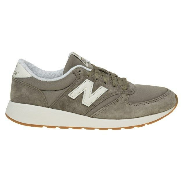 New WOMENS NEW BALANCE BALANCE BALANCE GREEN KHAKI 420 SUEDE Sneakers Retro bed353