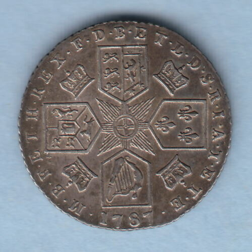 Great Britain. 1787 George 111.. Sixpence.. Without Hearts.. gEF Part Lustre