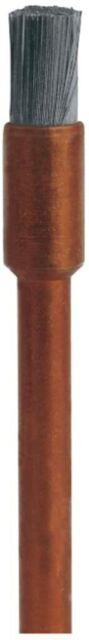 Dremel 532 Edelstahlbürste Zubehörsatz mit 3 Edelstahlbürsten, 3,2mm, Aluminium,
