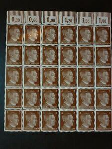 German-Realm-1941-30-Adolf-Hitler-stamps-sheet-MNH