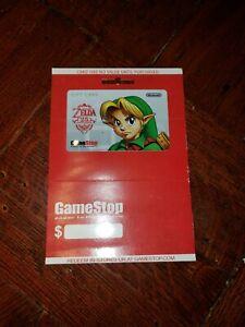 LINK ~ Legend of Zelda ~ 25th Anniversary ~ GameStop Gift Card  ** NO VALUE**