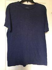 J Crew Men's Broken In T-Shirt Tee Sz Large Blue Navy Casual # 73431 100% Cotton