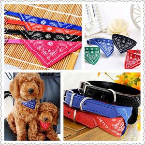 Bandanas-reglables-pour-chiens-Chiot-Pet-Products-Colliers-Foulards-Accessoi-KU