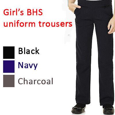 BHS BOYS SCHOOL TROUSERS  BLACK//CHARCOAL//GREY regular//generous fit 3-10yrs BNWT