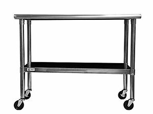 Kitchen Steel Table Trinity ecostorage nsf stainless steel table with 48 inch wheels ebay stock photo workwithnaturefo