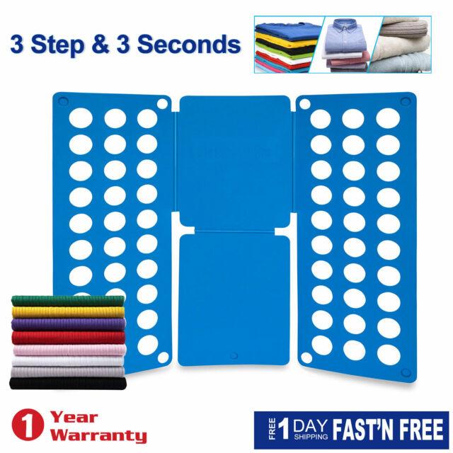 Clothes T-Shirt Flip Fold Folding Board Fast Folder Fast Laundry Organizer Adult