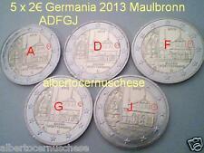 5 x 2 euro 2013 fdc Germania Deutschland Allemagne Maulbronn Baden Wuerttenberg