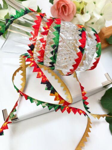 environ 8.23 m 9 Yd dernier indien multicolore vert triangle Bunting Craft Kinari bordure en dentelle