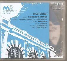 "THE ROLLING STONES ""Beast Of Burden"" UK Promo Mastering CD 2011 RARE"