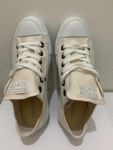 Converse All Star ox Canvas Womens Trainers Shoes White Size 4 UK 36.5 EU