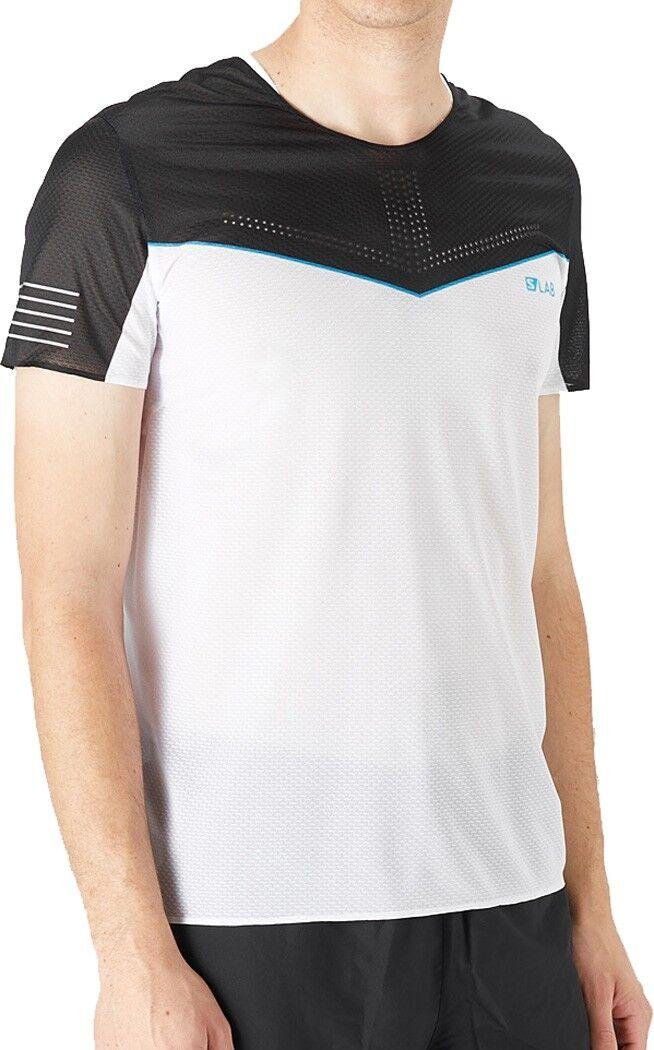 Salomon S-Lab Sense Short Sleeve Mens Running Top - White