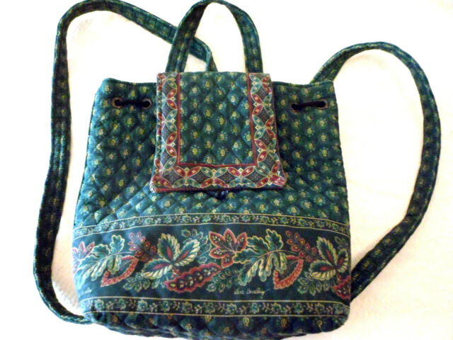 Vera Bradley Mimi Backpack Ret '98-2000 Classic Green Back to School Gently Used